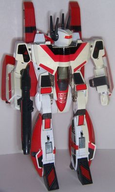 JetFire/SkyFire.  Whichever the name, it was one of the best Transformers toys from the 80s (taken from the Macross series)