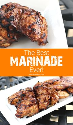 An easy marinade for chicken and beef. Packed with flavor and makes dinner time a snap! #marinades #recipes www.ezebreezy.com