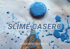 Receta de slime casero: Juego sensorial para niños - Aprendiendo con Julia