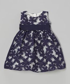 Take a look at the Navy Jasmine Spring Lace Dress - Infant on #zulily today!