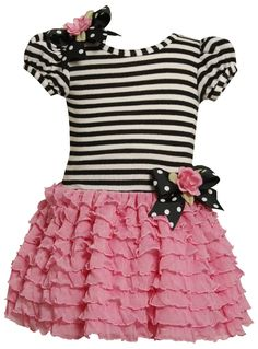 Amazon.com: Bonnie Jean Girls 2-6X blusa tejida a soltar la cintura Falda volante multi, Pink, 2T: Bonnie Jean: Ropa