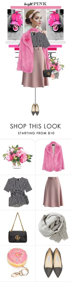 """""""SM8 #15 - Your least favourite colour"""" by ginevra-18 ❤ liked on Polyvore featuring NDI, J.Crew, MSGM, Chicwish, Gucci, Brunello Cucinelli, Red Camel, Jimmy Choo and Lime Crime"""