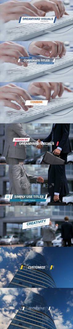 Buy Corporate Titles and Lower Thirds 2 by DREAMYARD_Visuals on VideoHive. Check out: 19 Text Titles and Lower Thirds! Web Design, Design Ideas, Graphic Design, Lower Thirds, 3d Video, Text Layout, After Effects Projects, Editorial Layout, Motion Graphics