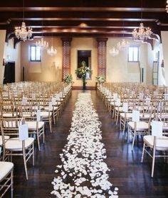 20 awesome indoor wedding ceremony dcoration ideas decorating white decor is beautiful for a classic or traditional wedding junglespirit Images