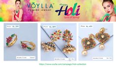 Voylla is India's leading Online Jewellery Store for fashion jewellery and  Accessories brands. Voylla introduced the Holi special colorful jewellery collection at competitive price. For more information to visit: https://www.voylla.com/campaign/Holi-collection ✓EasyReturns ✓COD.
