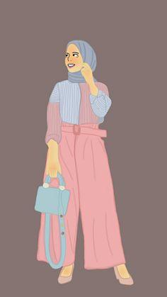 New Art Drawings Girl Hijab 58 Ideas Cartoon Sketches, Art Sketches, Art Drawings, Fashion Illustration Dresses, Fashion Sketches, Girl Drawing Pictures, Muslim Pictures, Baby Girl Drawing, Hijab Drawing
