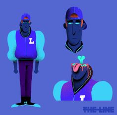 Character design from the TBS 'shotgun' ident I designed for The Line animation.Directed by Tim McCourt & Max TaylorYou can see all four idents here…https://vimeo.com/151639401