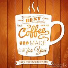 Fashion creative coffee poster vector