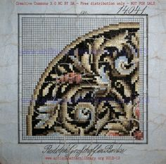 Lovely and old-fashioned Cross Stitch Borders, Cross Stitch Rose, Cross Stitch Charts, Cross Stitch Designs, Cross Stitching, Cross Stitch Embroidery, Embroidery Patterns, Cross Stitch Patterns, Chart Design