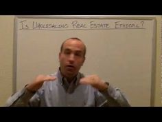 Is Wholesaling Real Estate Ethical?  |  Real Estate Coach #real_estate_wholesaling #wholesaling_real_estate