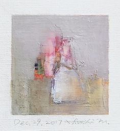 Dec. 29 2017 Original Abstract Oil Painting 9x9 painting