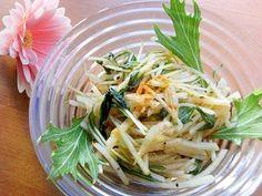 「すぐ食べる漬物サラダ♪中華ドレッシング不要で大根」中華ドレッシングを優しくした味になります。塩は不要なので、減塩中の方にお勧めです。【楽天レシピ】