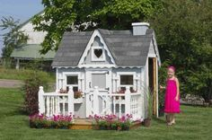 Little Cottage Company Victorian Cozy Kennel Panelized Playhouse Kit, 8' x 10' Little Cottage Company