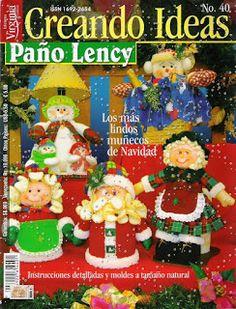 Revistas de Fieltro gratis: revista muñecos navideños gratis