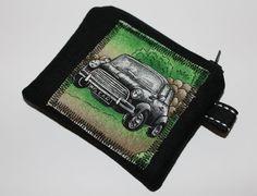 Coin purse change purse black Mini car by Enchantingcrafts on Etsy, £5.00