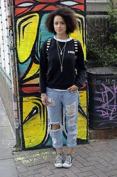 Nathalie Emmanuel Actress Brick Lane Graffiti London