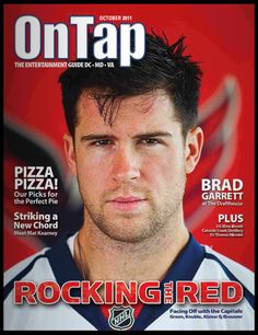 Stubble, freckles AND good hair... Mmm :) Mike Green DC Capitals