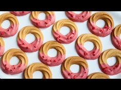 Soft Butter Cookies Recipe | Strawberry Chocolate-coated Butter Cookies | Nebokgom - YouTube Soft Butter Cookies Recipe, Cookie Recipes, Dessert Recipes, Desserts, Kinds Of Cookies, Chocolate Strawberries, Cafe Food, Dessert Drinks, Strawberry Recipes