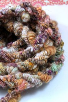 SandStone Handspun Art Yarn Lariat Textile Couture by Jazzturtle,
