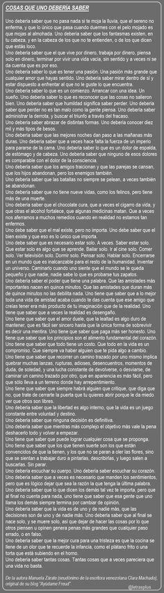 """De Manuela Zárate (seudónimo de la escritora venezolana Clara Machado), original de su blog """"Ayúdame Freud""""."""
