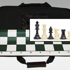 Tournament Chess Set with Canvas Bag - 10-1120