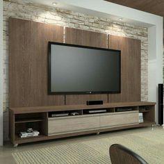 Resultado de imagem para como combinar painel da sala com cozinha mdf ameixa negra Tv Wall Cabinets, Wall Shelves, Modern Tv Wall Units, Tv Unit Furniture, Living Room Tv Unit Designs, Muebles Living, Tv Wall Decor, Tv Wall Design, Tv In Bedroom