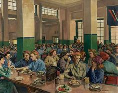 Ethel Leontine Gabain paintings  Women Workers in the Canteen at Williams & Williams Chester