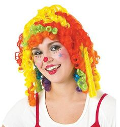 Cutie Pie Clown Wig Adult | Wholesale Halloween Clown one of our Wigs