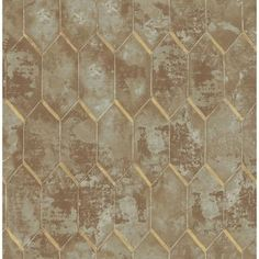 Seabrook Designs Whitney Metallic Copper and Gray Geometric Wallpaper - The Home Depot Rustic Wallpaper, Brown Wallpaper, Embossed Wallpaper, Graphic Wallpaper, Wallpaper Panels, Modern Wallpaper, Geometric Wallpaper, Textured Wallpaper, Wallpaper Roll