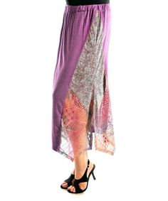 Loving this Purple & Pink Sidetail Maxi Skirt on #zulily! #zulilyfinds