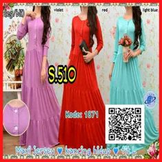 baju maxi long dress modern s510