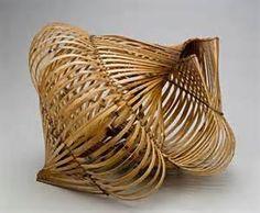waxed linen sculpture ..CHARISSA BROCK Bamboo Weaving, Weaving Art, Basket Weaving, Bamboo Art, Black Bamboo, Contemporary Baskets, Art Sculpture, Sculpture Ideas, Bamboo Architecture