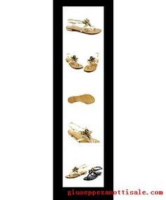 giuseppe zanotti slippers leather and metalic