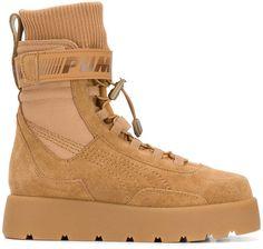 ed004d579999 Fenty X Puma high ankle lace up Scuba boots