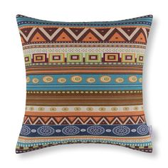 CaliTime Cushion Cover Throw Pillow Shell Geometric Figure 18 X 18 Inches, Vintage Southwestern Design ** Check out the image by visiting the link. (This is an affiliate link and I receive a commission for the sales)