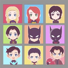 The Bat Family. Even the supposedly gloomy and loner Dark Knight has a huge family of allies.