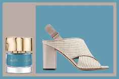 Spring Sandal and Nail Polish Matches: Smith & Cult nail polish in Birdie Num Num and Vince Faine sandal | allure.com