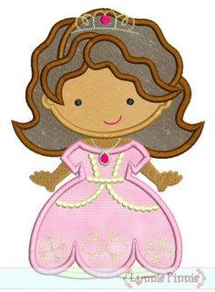Embroidery Designs - Little Sophie Princess Cutie Applique 4x4 5x7 6x10 SVG - Welcome to Lynnie Pinnie.com! Instant download and free applique machine embroidery designs in PES, HUS, JEF, DST, EXP, VIP, XXX AND ART formats.