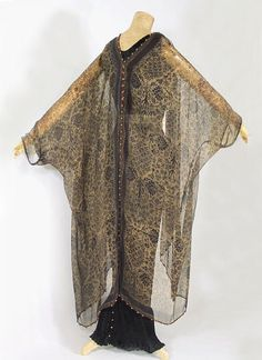 ~Fortuny stenciled silk gauze wrap, c.1920~ from the Vintage Textile archives.