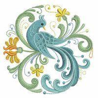Bird with flair. Folk Embroidery, Machine Embroidery Designs, Embroidery Patterns, Donna Dewberry, Vogel Illustration, Rosemaling Pattern, Norwegian Rosemaling, Art Du Fil, Scandinavian Folk Art