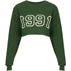 1991 Crop Sweat By Tee And Cake ($60) ❤ liked on Polyvore