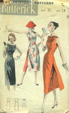 Butterick 7790 circa 1956 cheong sam or Chinese pajamas