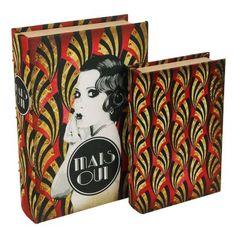 Trevisan ♥ Livro Caixa Art Deco Vermelho
