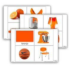 Livro de cor: laranja. Cada livro de cor inclui: 1carta com titulo 10 imagens