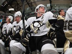 Sidney Crosby, Evgeni Malkin, and Jordan Staal on 3/29/12
