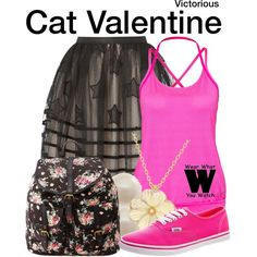 Inspired by Ariana Grande as Cat Valentine on Victorious.