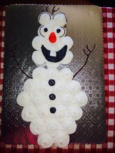 Olaf pull-apart cupcakes cake, Disney frozen movie