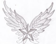 nautical star with angel wings - Google Search