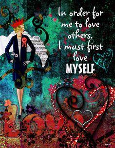 Art Journaling - Love myself