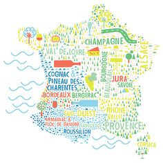 Zsuzsanna Ilijin - Wine map of France #map #france